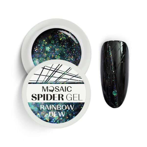 Mosaic Spider Gel - Rainbow Dew 1