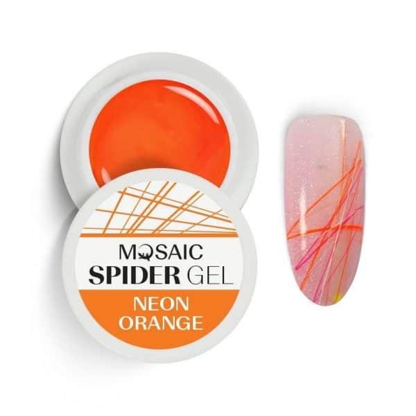 Mosaic Spider Gel - Neon Orange 1
