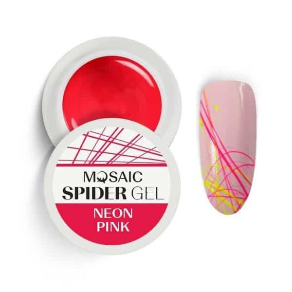 Mosaic Spider Gel - Neon Pink 1