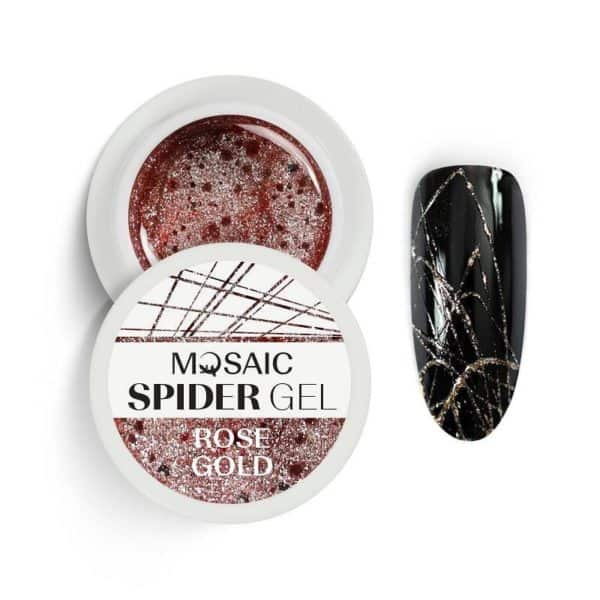 Mosaic Spider Gel - Rose Gold Glitter 1