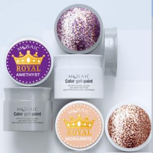 Mosaic Royal Glitter Gel Paints