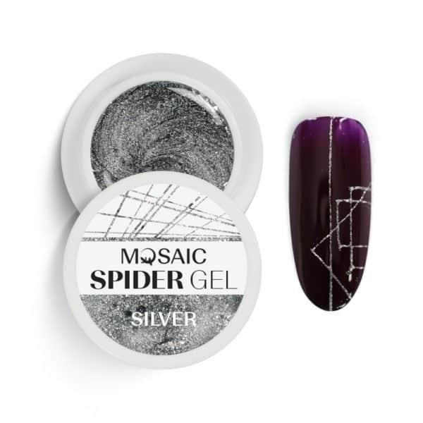 Mosaic Spider Gel - Silver Glitter 1