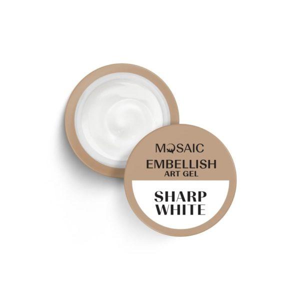Sharp White Embellish Art Gel 1