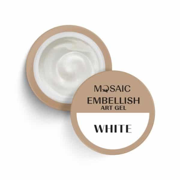 White Embellish Art Gel 1
