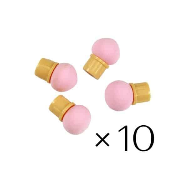 Pink Sponge Heads (10 Pack) 1