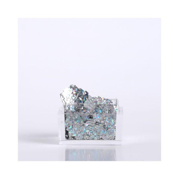 Silver Holo Leaf Foil 1